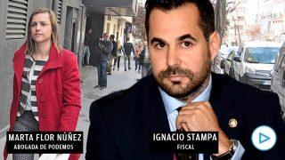 Ignacio Stampa, fiscal, y Marta Flor Núñez, abogada de Podemos.