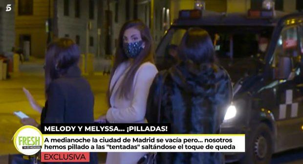 Melodie y Melyssa pilladas saltándose el toque de queda en Madrid