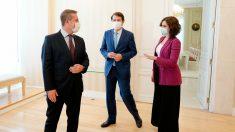 Page, Mañueco y Ayuso, en su reunión del pasado mes de septiembre. (Europa Press)