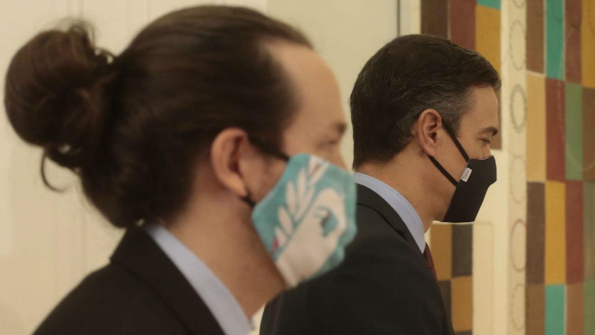 Pablo Iglesias y Pedro Sánchez. (Foto: Gobierno)