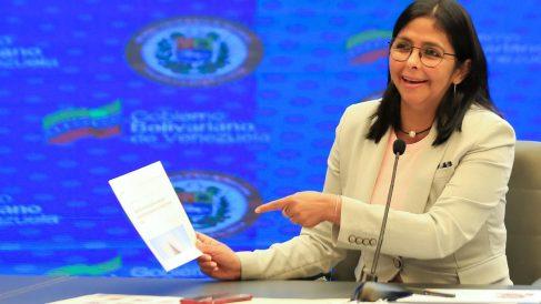 La vicepresidenta de Venezuela, Delcy Rodríguez. Foto: EP