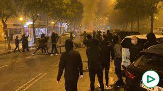 Disturbios en Sevilla en protesta del estado de alarma.
