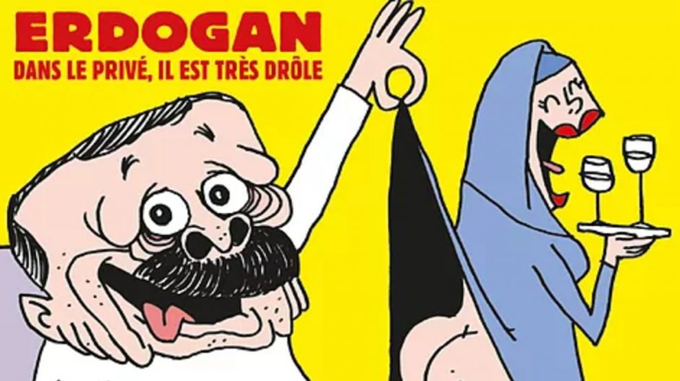 Caricatura de Erdogan