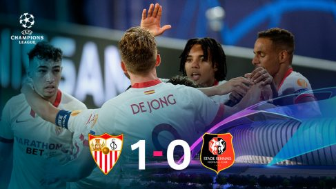 El Sevilla sumó tres puntos ante el Rennes.