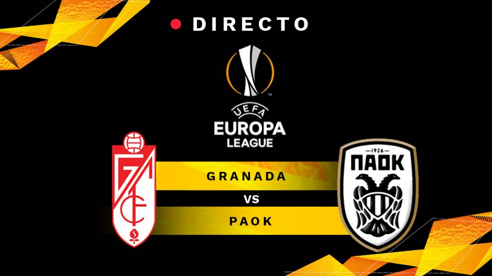Granada-PAOK, en directo online: resultado, goles y minuto a minuto del partido de Europa League hoy.