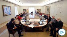 El primer Consejo de Ministros del actual Gobierno. (Foto- EP)