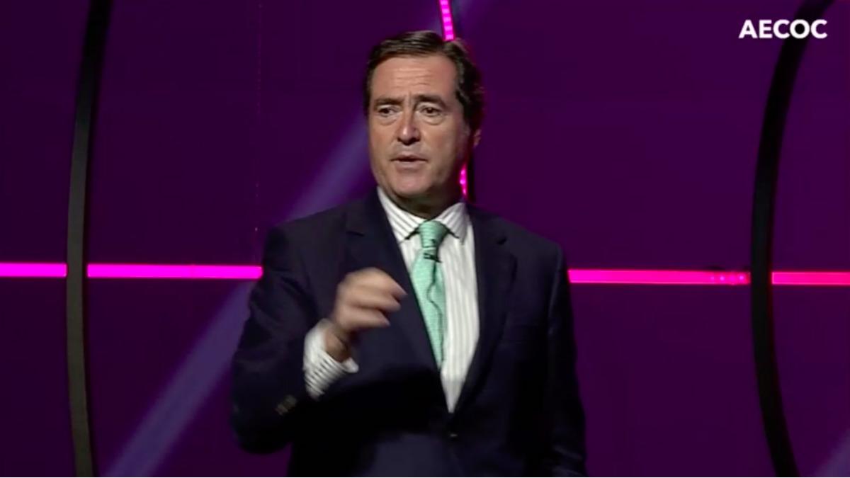 Antonio Garamendi, en el congreso Aecoc 2020