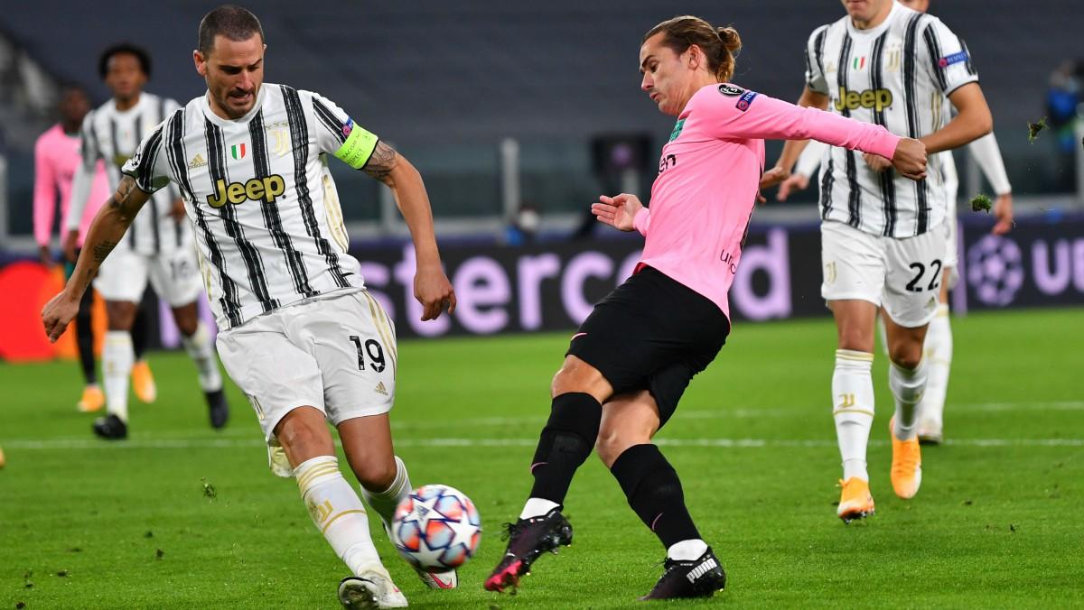 Griezmann, en acción ante la Juventus. (Getty)