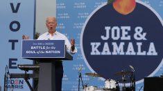 El candidato demócrata, ahora presidente electo, Joe Biden, en un acto electoral en Atlanta. Foto: EP