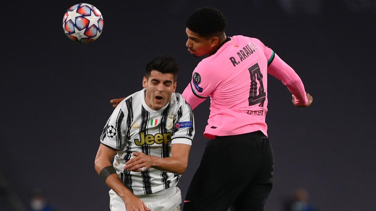 Morata, en el partido ante el Barcelona. (AFP)