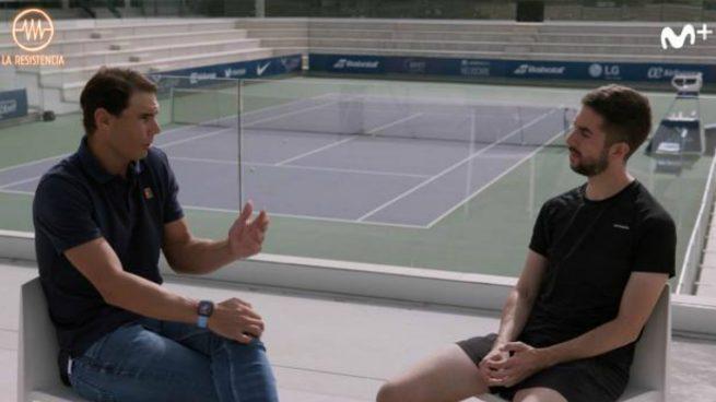 Rafa Nadal y David Broncano en 'La Resistencia'.