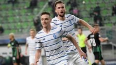Tsyghankov celebra su gol al Ferencvaros. (AFP)