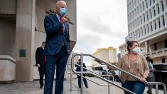 Joe Biden tras votar en Delaware (Foto: AFP)