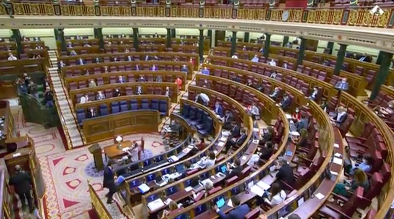 Una vista del hemiciclo del Congreso de los Diputados