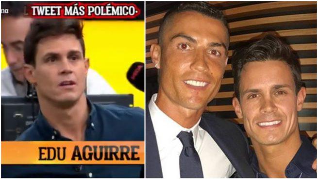 Edu Aguirre y Cristiano Ronaldo.