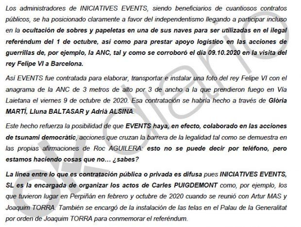 Colau y la Generalitat financian con contratos amañados a la empresa que montó el mitin de Puigdemont en Perpiñán