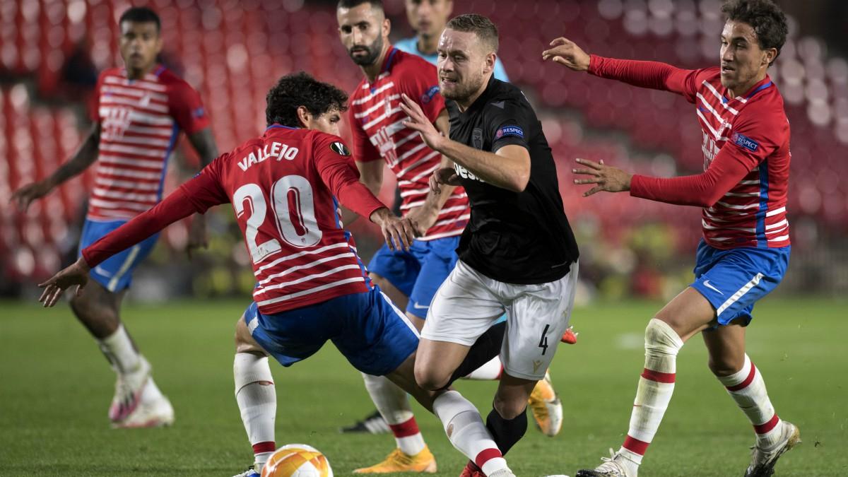 El Granada empató contra el PAOK en Los Cármenes. (AFP)