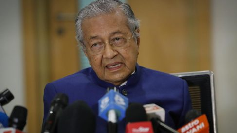 El primer ministro de Malasia, Mahathir Mohamad. FOto: AFP