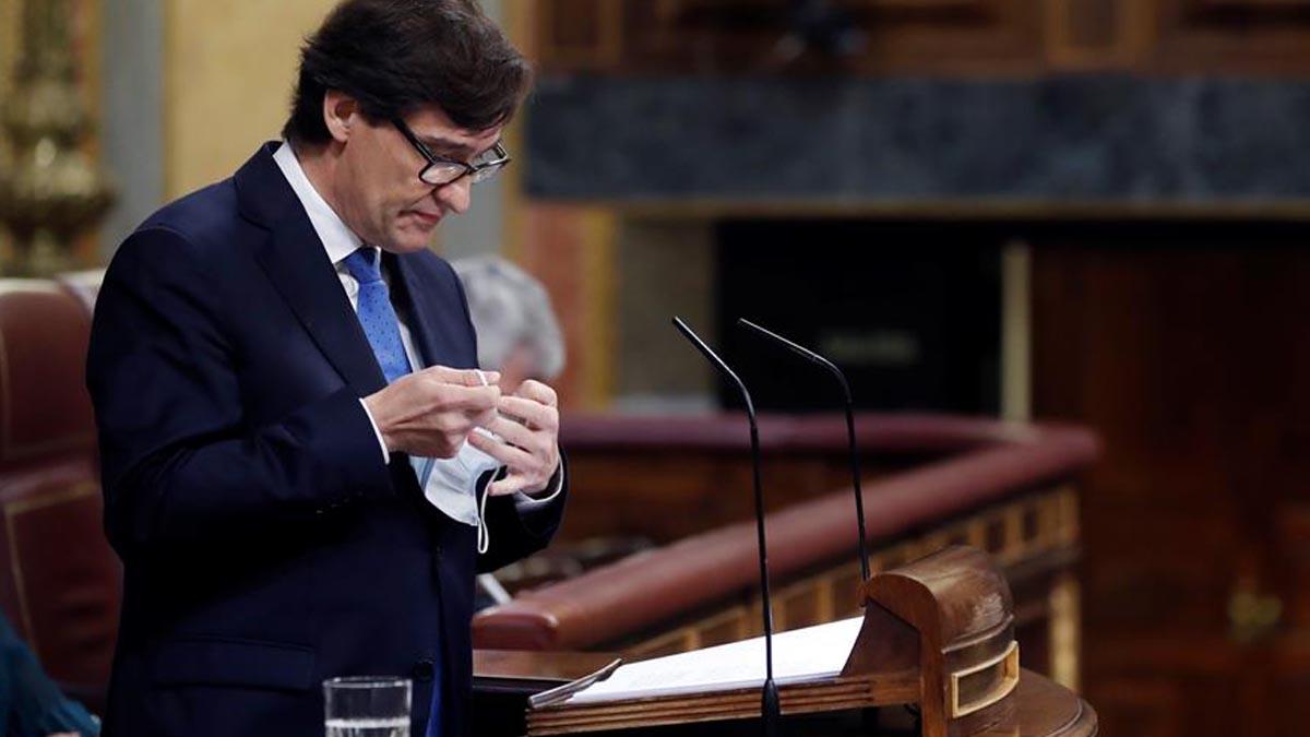 Salvador Illa, ministro de Sanidad, en el Congreso de los Diputados. Foto: EFE