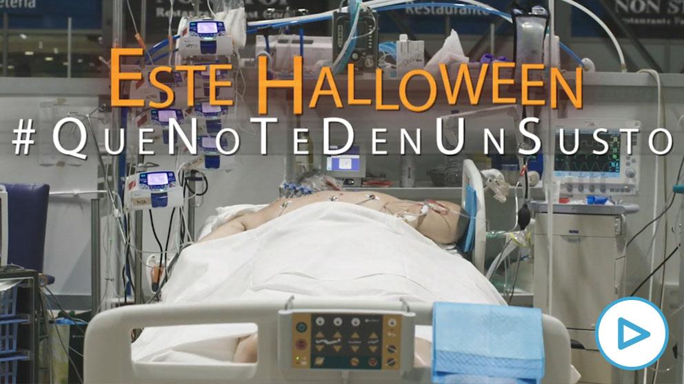 Campaña de Halloween 'Que no te den un susto' de la Comunidad de Madrid.