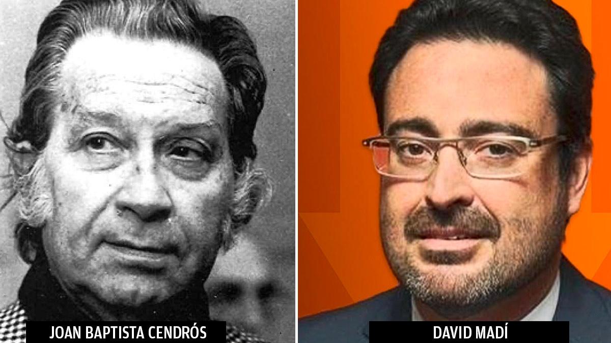 El empresario Joan Baptista Cendrós y su nieto David Madí, presidente de Aguas de Cataluña.
