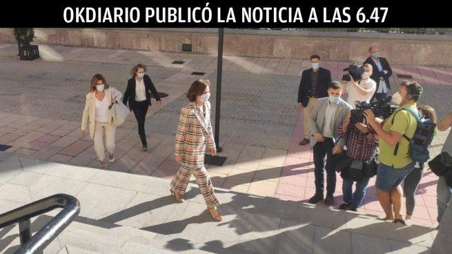 Carmen Calvo, en Oviedo. Foto: EP