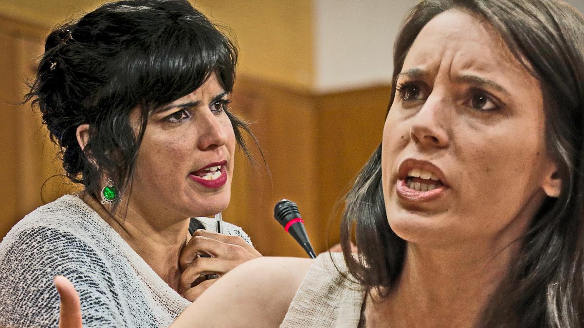 Teresa Rodríguez e Irene Montero.