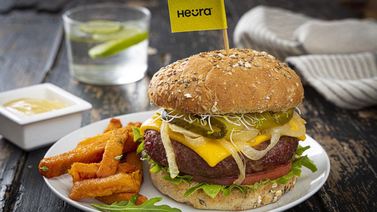 Nueva Burger Heura, a base de un análogo de la grasa a partir del aceite de oliva virgen extra