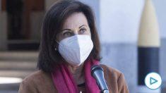 Margarita Robles avisa de que los militares están encontrando datos de contagios «muy preocupantes» en las residencias
