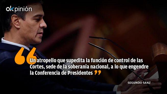 El fraudillo Sánchez congela la democracia