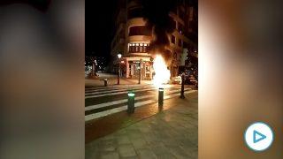 estado de alarma - disturbios en Bilbao contra el toque de queda