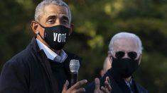 El ex presidente de los EEUU, Barack Obama, junto al candidato demócrata Joe Biden. Foto: AFP