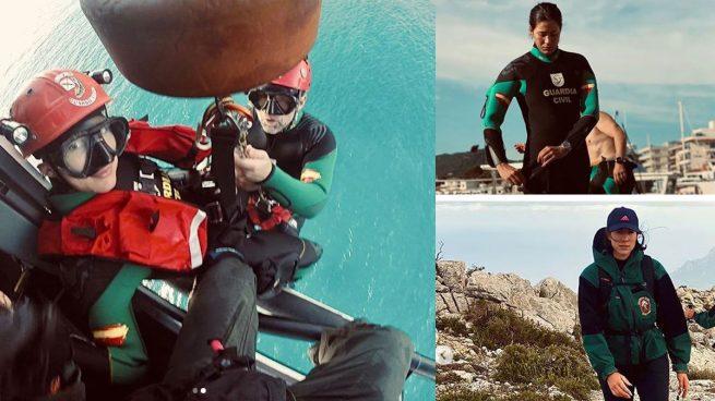 El entrenamiento de Garbiñe Muguruza con la Guardia Civil por aire, mar y tierra