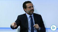 El consejero de Hacienda, Javier Fernández-Lasquetty, durante su entrevista a OKDIARIO