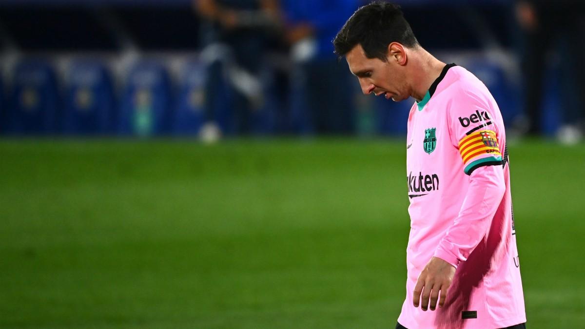 Messi sigue a la baja. (AFP)