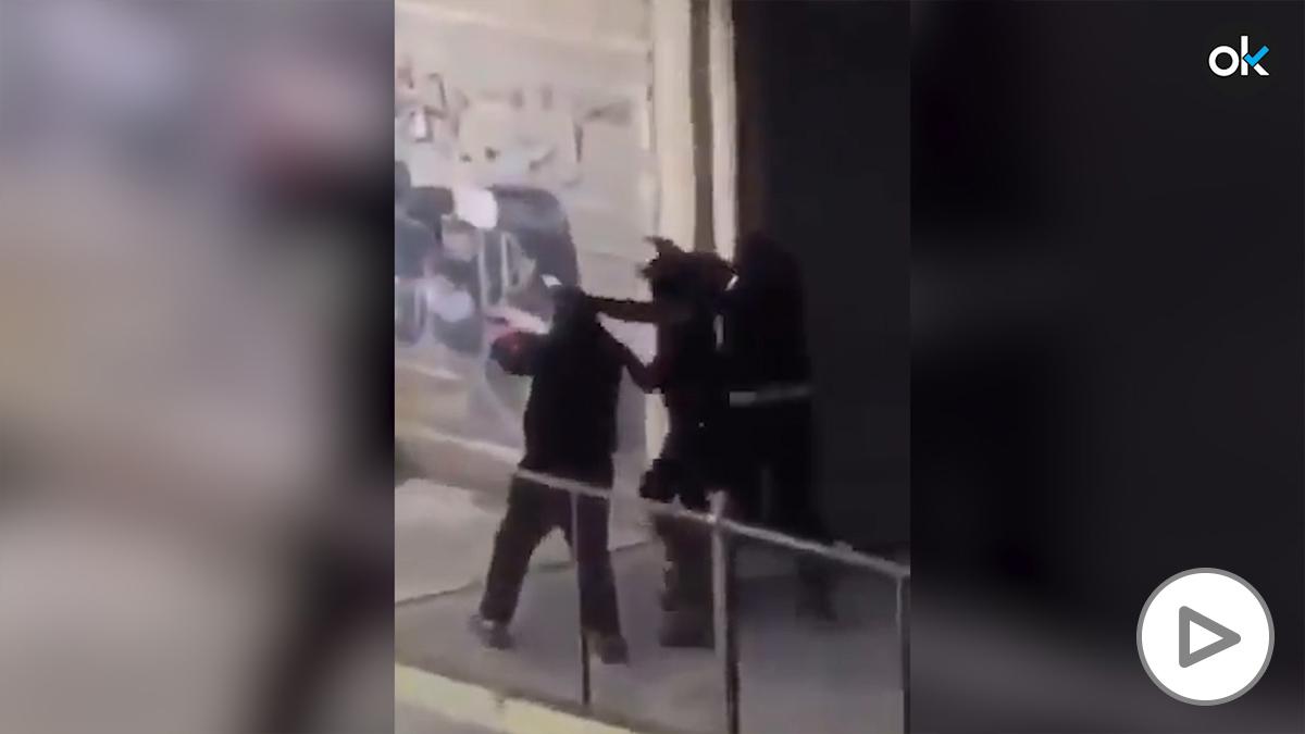 Narcos disparando en Montpellier.