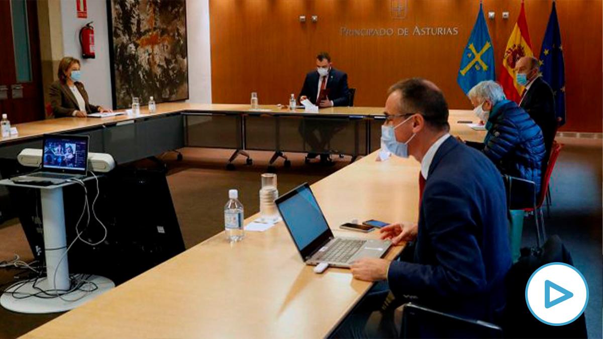 Reunión del Comité de crisis del Principado de Asturias.