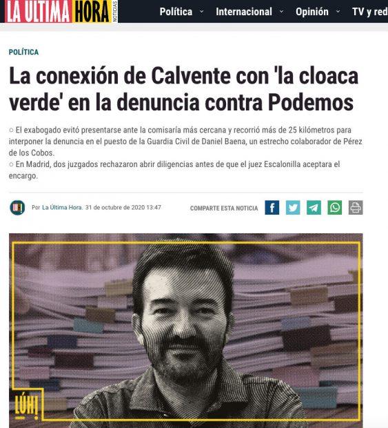 El diario de Iglesias dice que la Guardia Civil es una «cloaca verde» por investigar la corrupción de Podemos