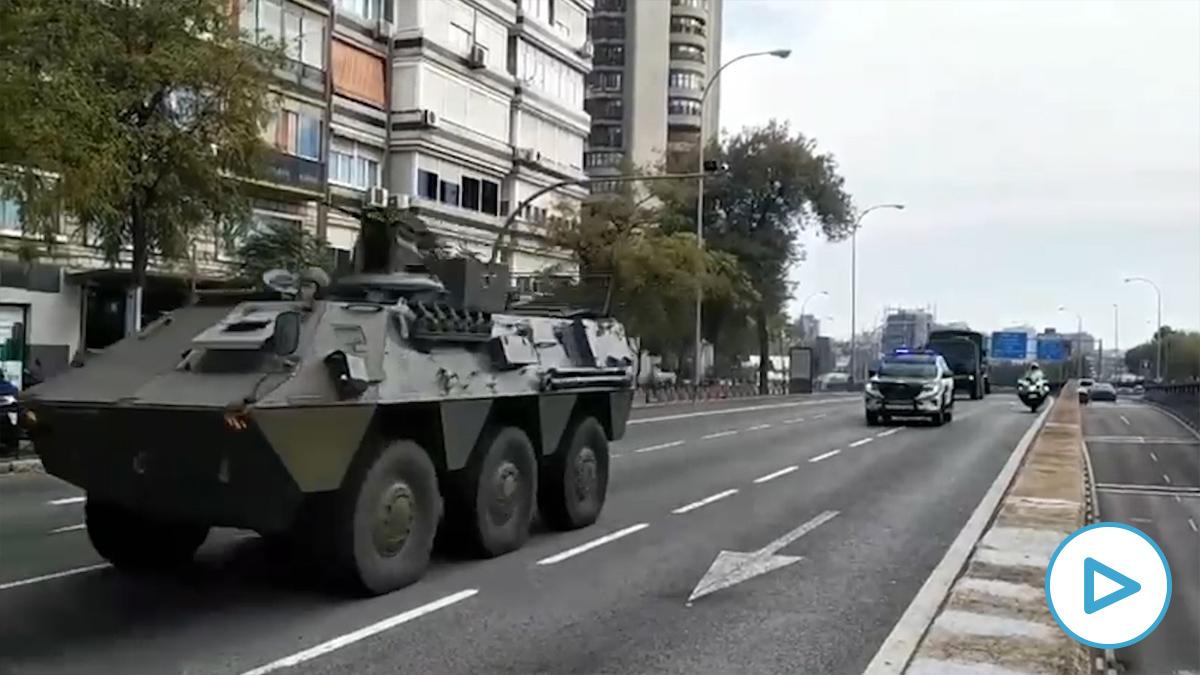 Tanques en la Avenida de América