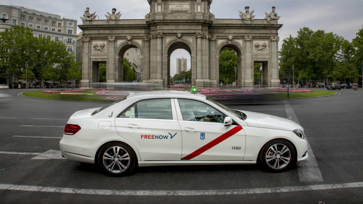 Un taxi de Free Now en Madrid