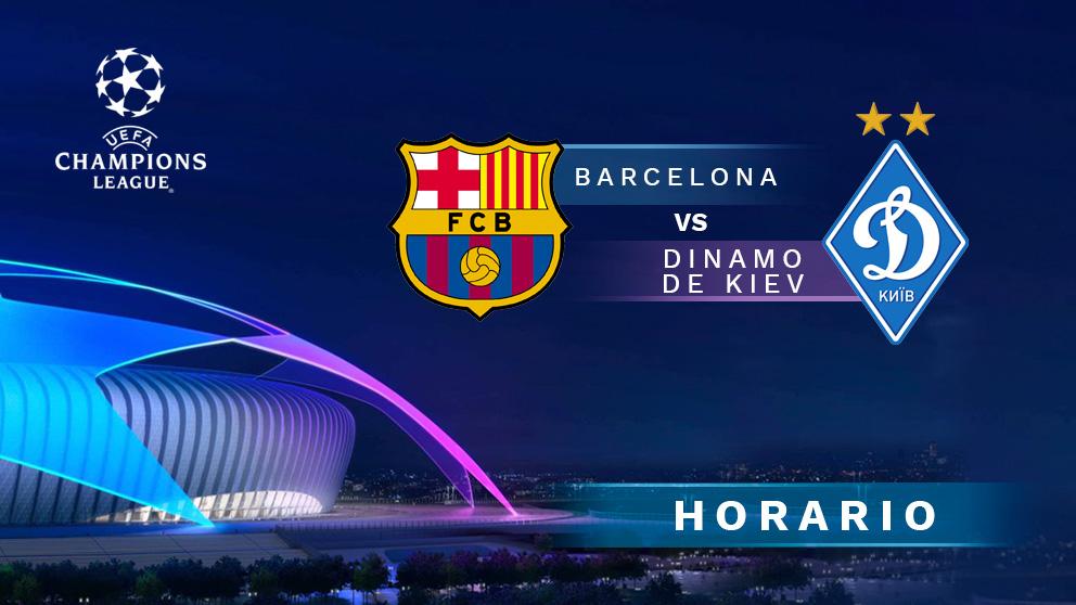 Barcelona – Dinamo de Kiev: partido de la Champions League.