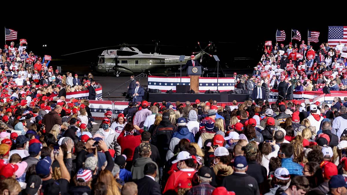 Donald Trump antes de las elecciones en Estados Unidos (Foto: AFP)