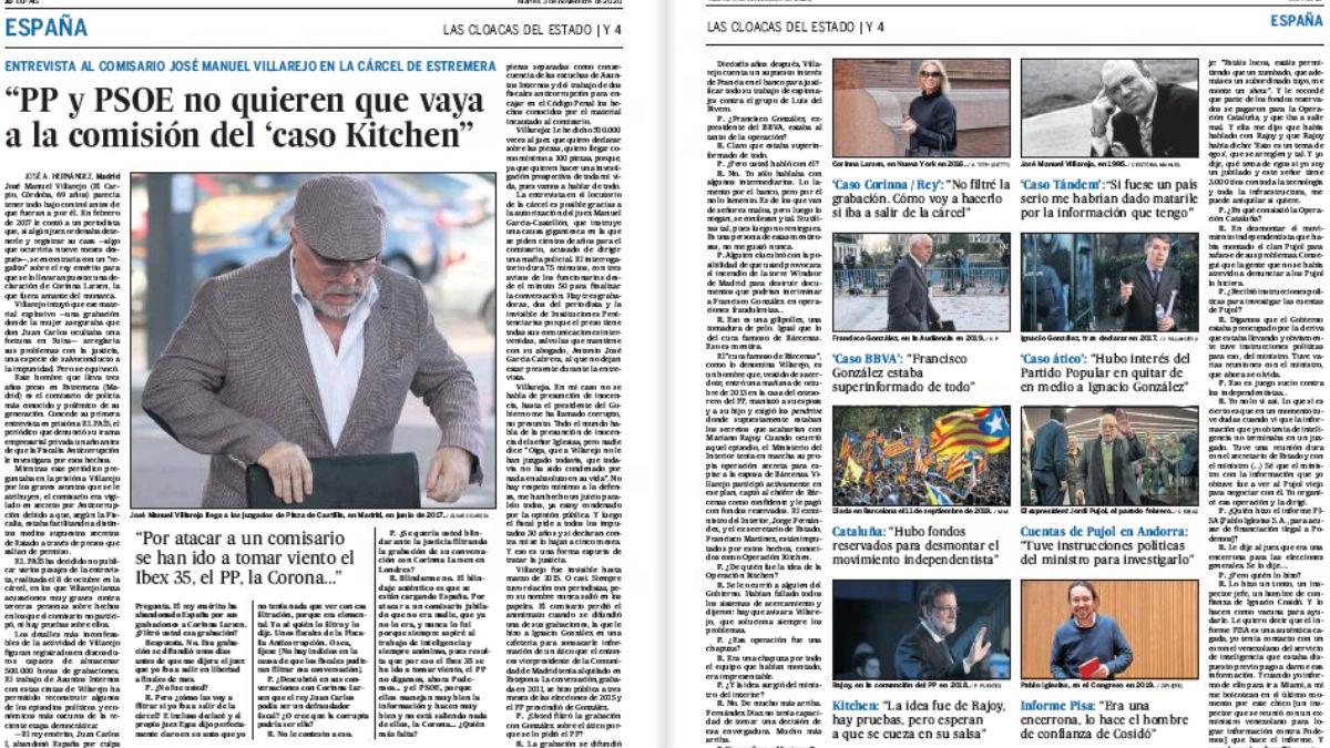 Entrevista de José Villarejo en El País