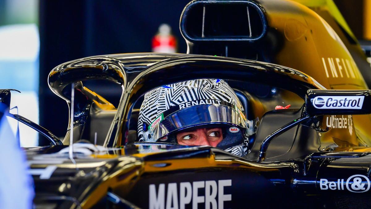 Fernando Alonso en los test de Renault en Baréin. (@RenaultF1Team)