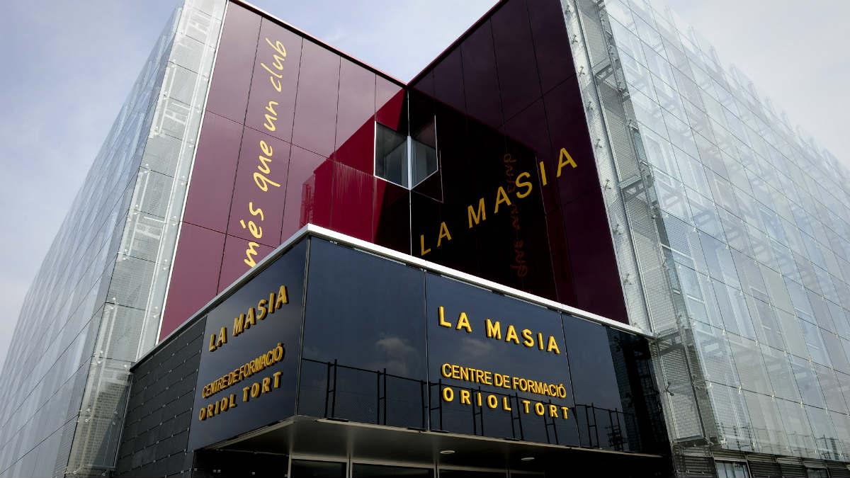Una imagen de La Masía, sede de la cantera del Barcelona. (AFP)
