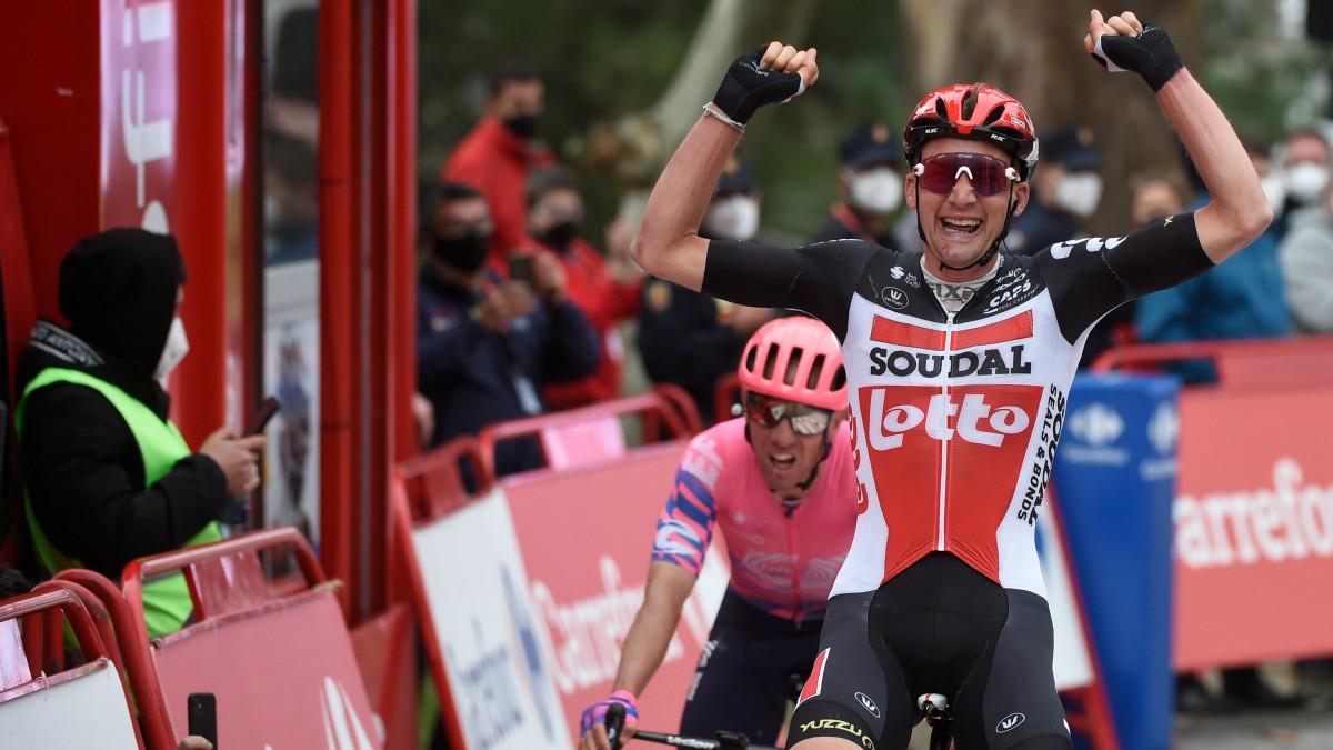 Wellens celebra su triunfo. (AFP)