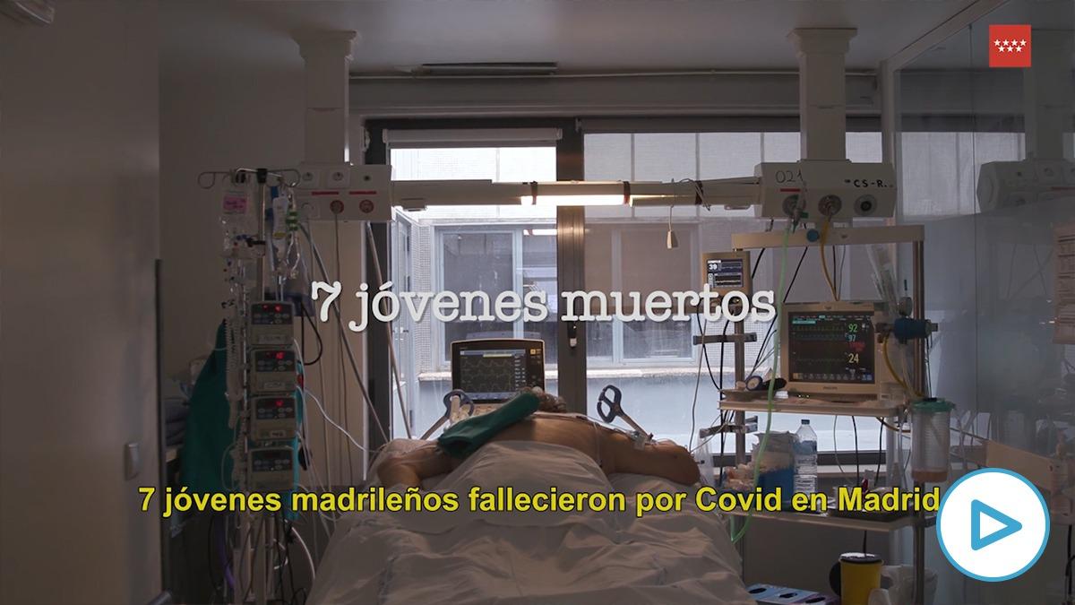 La Comunidad de Madrid lanza un vídeo para concienciar a la juventud ante el coronavirus: «Eres joven no inmortal».