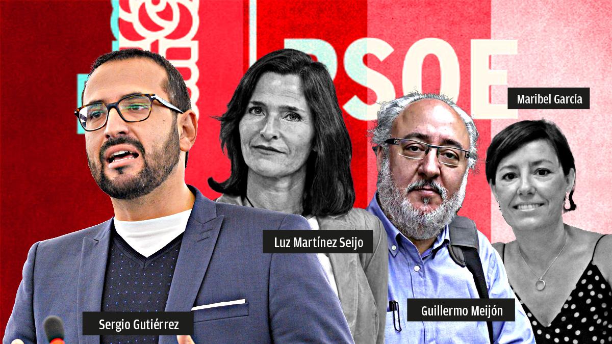 Los cuatro diputados del PSOE que han votado contra el castellano como «lengua oficial del Estado».