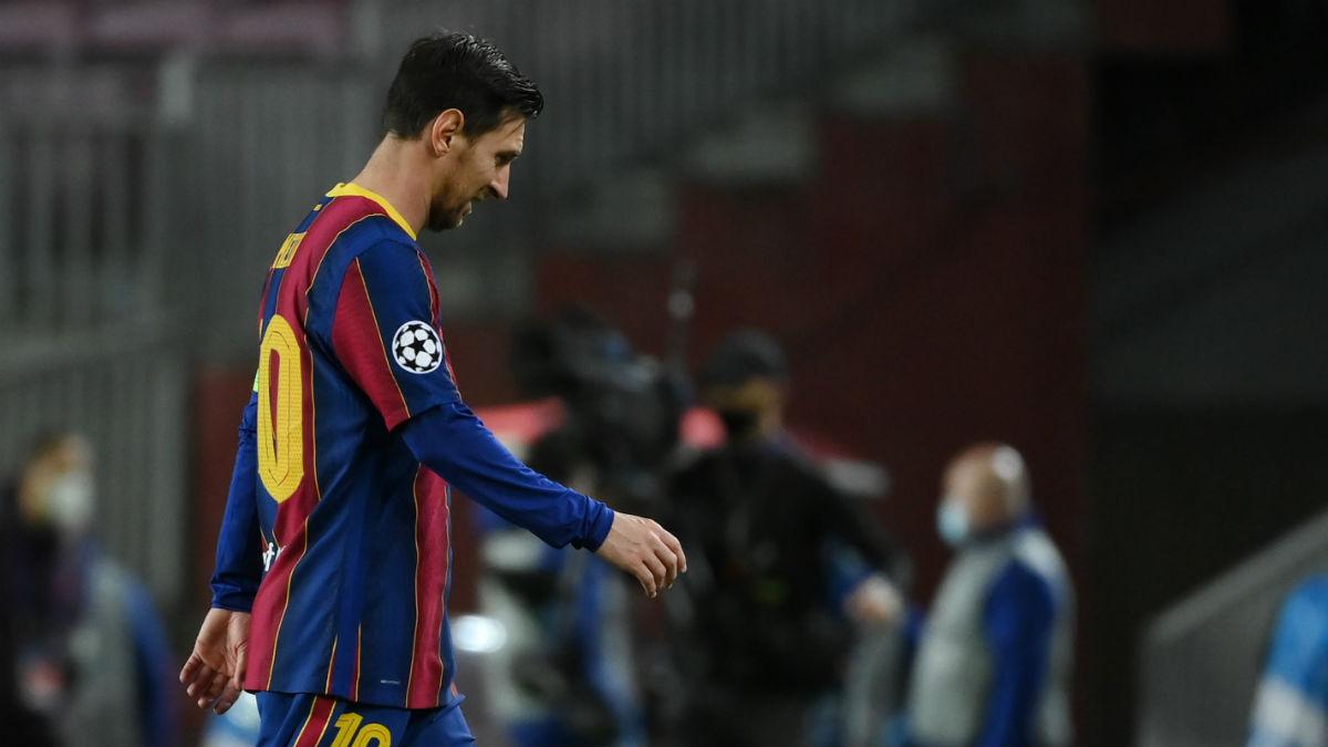 Messi, en el partido de Champions contra el Dinamo de Kiev. (AFP)