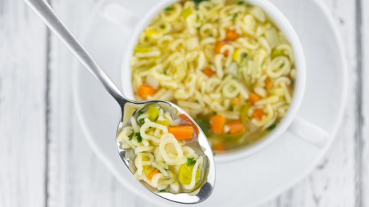 Sopa de verduras al microondas